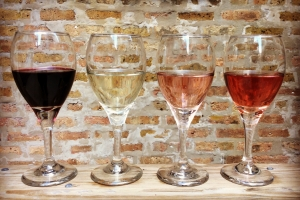 wine flight rose