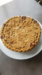 Whole apple streusel pie