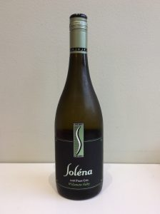 Bottle of Solena Pinot Gris white wine