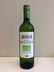 Bottle of Chateau Bonnet white wine