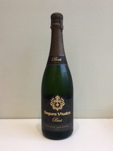 Bottle of Segura Viudas Sparkling Brut Cava