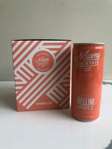 Can of Bellini Spritz next to a Bellini Spritz box